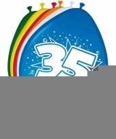 Versiering 35 jaar ballonnen 30 cm 16x sticker trend