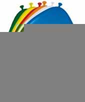 Versiering 4 jaar ballonnen 30 cm 16x sticker trend