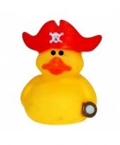 Verzamel badeendje kapitein met rode muts trend