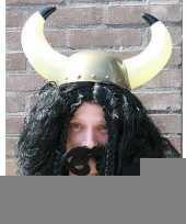 Vikingen pruik zwart trend