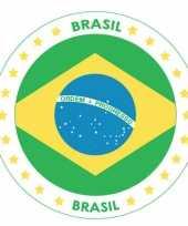 Viltjes met brazilie vlag opdruk trend