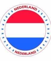 Viltjes met nederland vlag opdruk trend
