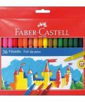 Viltstiften gekleurd 36 stuks trend