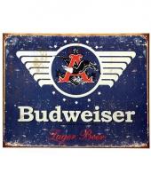 Vintage budweiser plaat 41 x 32 cm trend