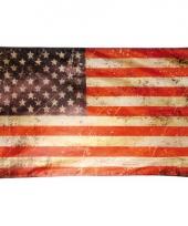 Vintage vlag amerika 150 x 90 cm trend
