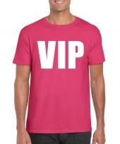 Vip tekst t-shirt roze heren trend