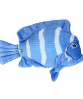 Vis knuffeltje blauw wit 21 cm met kraalogen trend