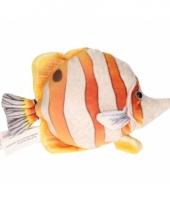 Vis knuffeltje geel 21 cm met kraalogen trend
