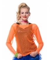 Visnet-shirt oranje trend