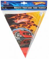 Vlaggenlijn met race auto 4 m trend