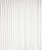 Vliegengordijn deurgordijn grijs transparant 93 x 220 cm trend