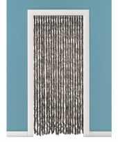 Vliegengordijn deurgordijn kattenstaart bruin 93 x 230 cm trend