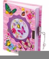Vlinder dagboek met slot trend