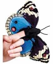 Vlinder knuffeltje blauw 22 cm met kraalogen trend