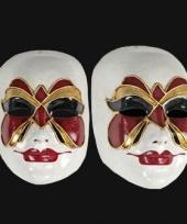 Vlinder masker handgemaakt trend