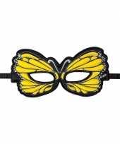 Vlinder oogmasker geel trend