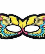 Vlinder oogmasker gele zwaluwstaart voor kinderen trend