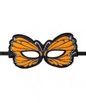 Vlinder oogmasker oranje trend