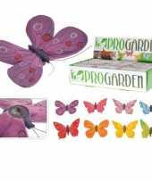 Vlinder tuin hangers in kleuren 9 x 13 cm trend
