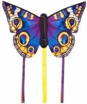 Vlinder vlieger blauw 52 x 34 cm met staarten trend