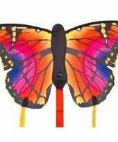 Vlinder vlieger rood 52 x 34 cm met staarten trend