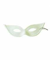 Vlinder wit gemasker bal masker trend