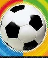 Voetbal feestje servetten 25 cm trend