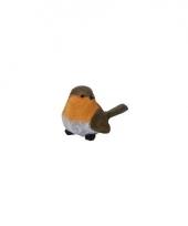 Vogel beeldje roodborstje 7 cm trend
