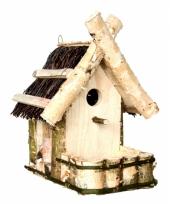 Vogelhuisje met balkon trend