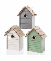Vogelhuisje met hanger grijs trend