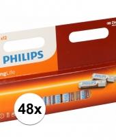 Voordeel pakket met 48 philips long life aaa batterijen trend