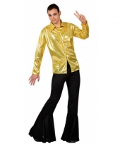 Voordelig goud disco kostuum heren trend