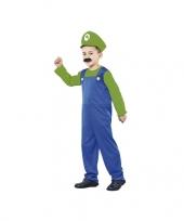 Voordelig groen loodgieter kostuum voor jongens trend