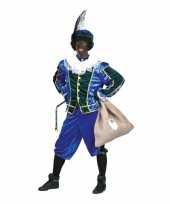 Voordelig roetveeg pieten kostuum blauw groen unisex trend