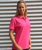 Voordelige fuchsia roze dames polo trend