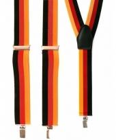 Voordelige geel rood zwart bretels trend