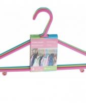 Voordelige kleerhangerset voor kids 6 stuks multikleur trend