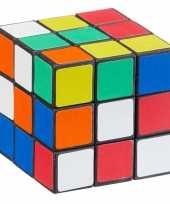 Voordelige kubus puzzel 7 cm trend 10105598