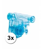 Voordelige mini waterpistooltjes blauw 3x trend