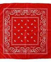 Voordelige rode boeren zakdoek 53 x 53 cm trend