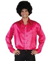 Voordelige roze rouche blouse voor heren trend