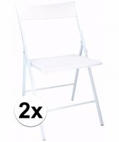 Voordelige witte stoelen set van 2 trend