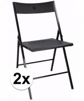 Voordelige zwart stoelen set van 2 trend