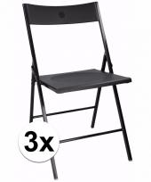 Voordelige zwart stoelen set van 3 trend