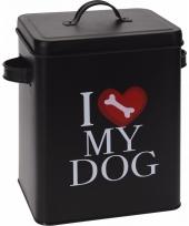 Voorraadblik voor hondenvoer i love my dog klein trend