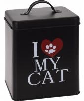 Voorraadblik voor kattenvoer i love my cat trend
