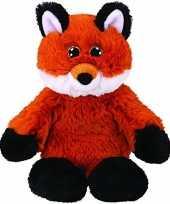 Vos vossen speelgoed artikelen ty beanie vos vossen knuffelbeest fred bruin 33 cm trend