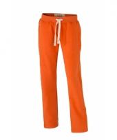 Vrijetijdsbroek oranje met steekzakken voor dames trend