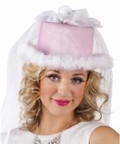 Vrijgezellenfeest dameshoed roze trend