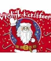 Vrolijke kerstfeest huldebord van karton trend